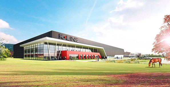 Recreación de la nueva factoría de K-Line en el departamento de Ain (Francia)